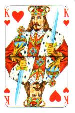 Spielkarte König